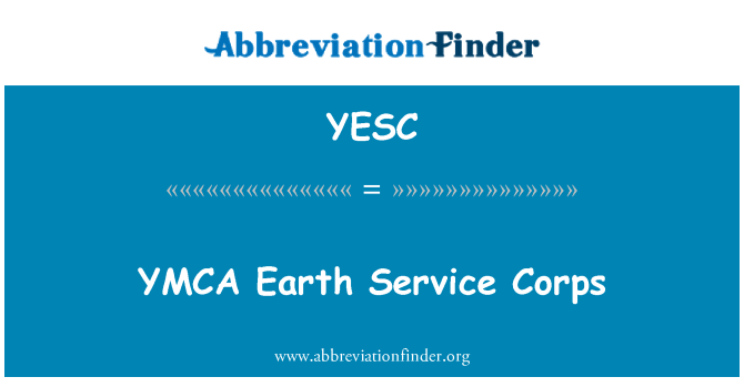 YESC: YMCA Earth Service Corps