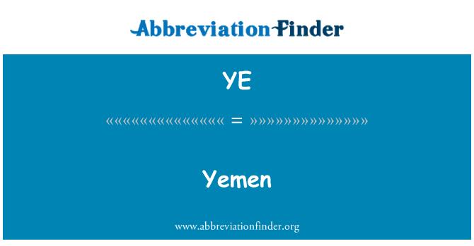 YE: Yemen