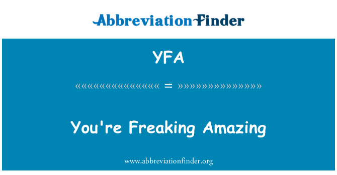 YFA: 你紧张令人惊叹