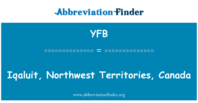 YFB: 加拿大西北地区伊魁特