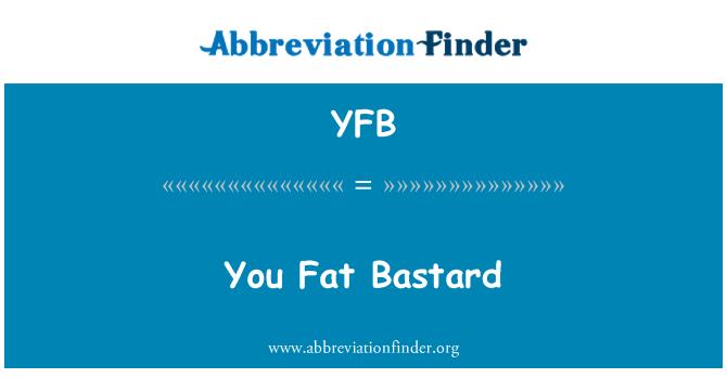 YFB: 你胖混蛋