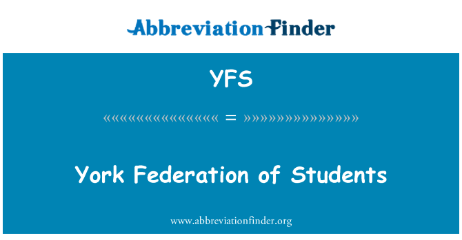 YFS: York Federation of Students
