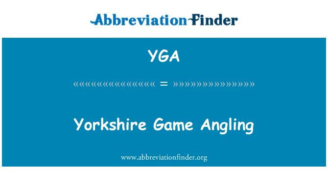 YGA: 约克郡游戏钓鱼