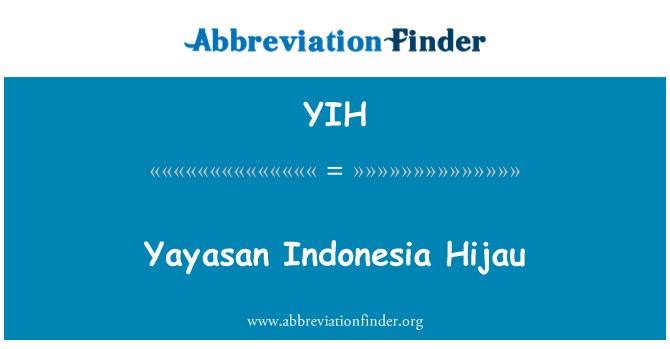 YIH: Yayasan Indonesia Hijau