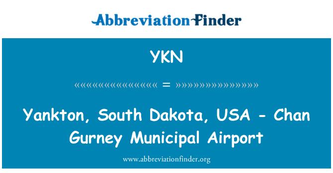 YKN: Yankton, South Dakota, USA - Chan Gurney Municipal Airport