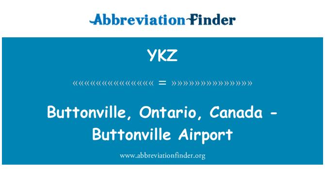 YKZ: Buttonville, Ontario, Canada - Buttonville Airport