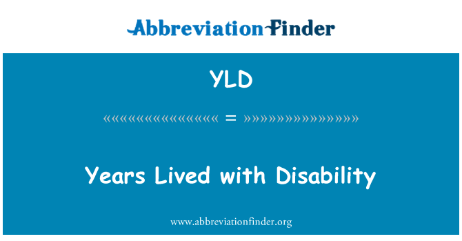 YLD: Years Lived with Disability