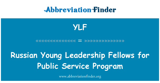 YLF: Russian Young Leadership Fellows for Public Service Program