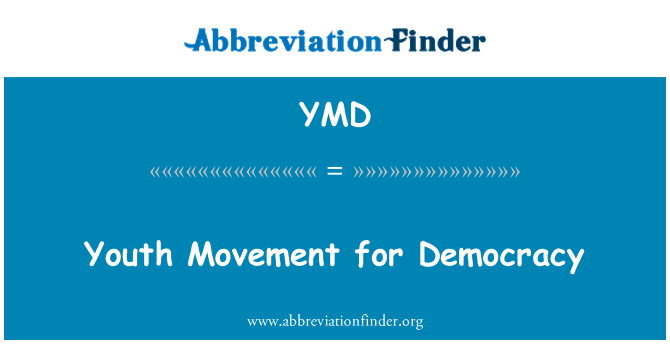 YMD: Youth Movement for Democracy