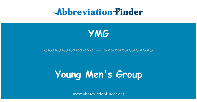 YMG: Young Men's Group