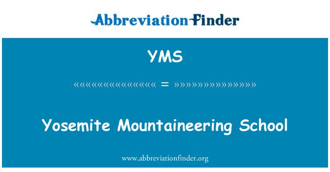YMS: Yosemite Mountaineering School