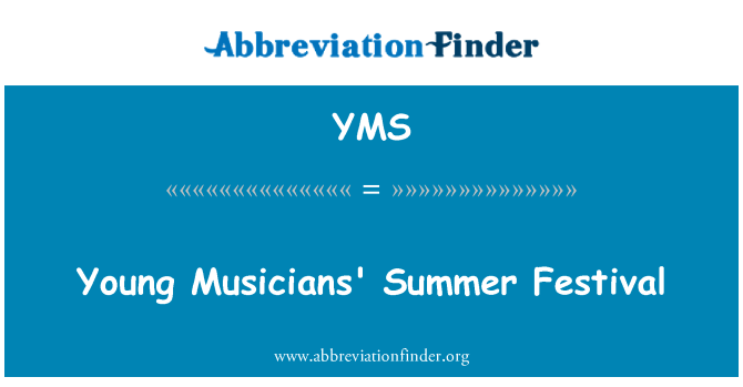 YMS: Young Musicians' Summer Festival