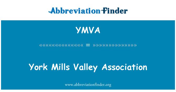 YMVA: York Mills Valley Association