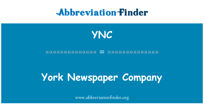 YNC: York Newspaper Company