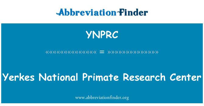 YNPRC: Yerkes National Primate Research Center