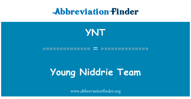 YNT: Young Niddrie Team