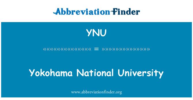 YNU: Universidad Nacional de Yokohama