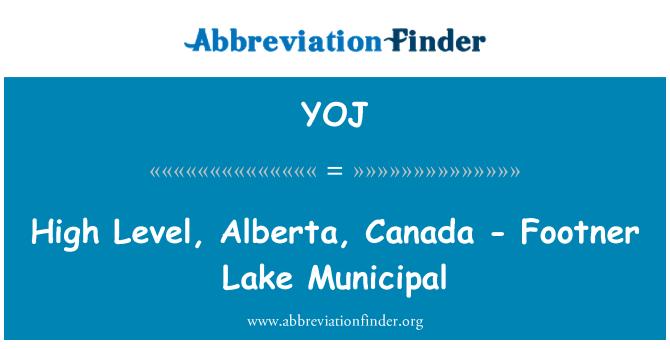 YOJ: High Level, Alberta, Canada - Footner Lake Municipal