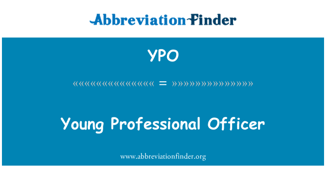 YPO: Young Professional Officer
