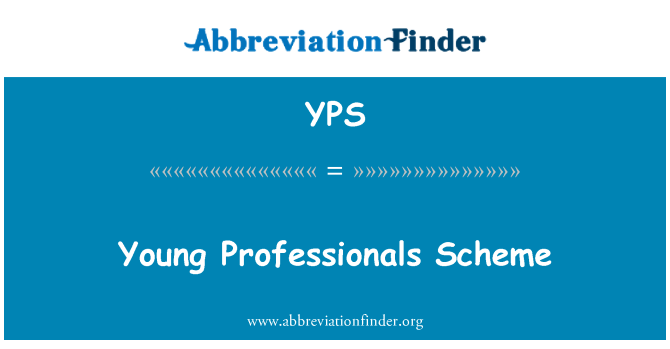 YPS: Young Professionals Scheme