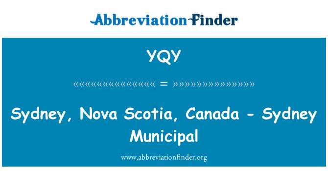 YQY: Sydney, Nova Scotia, Canada - Sydney Municipal