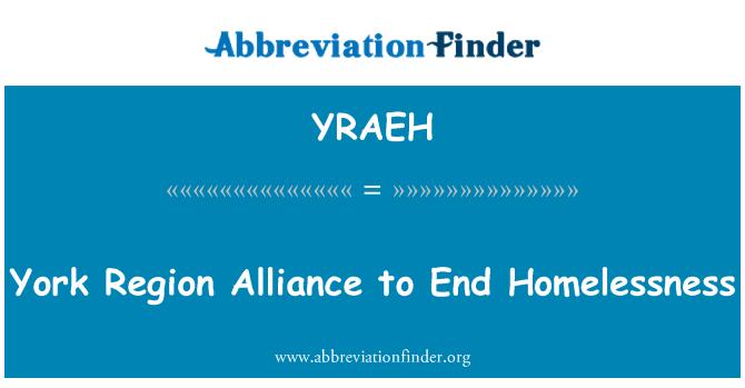 YRAEH: York Region Alliance to End Homelessness
