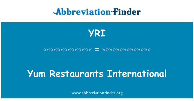 YRI: Yum Restaurants International