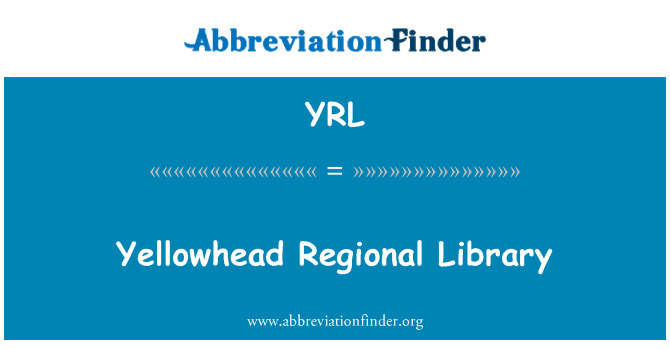 YRL: Yellowhead Regional Library