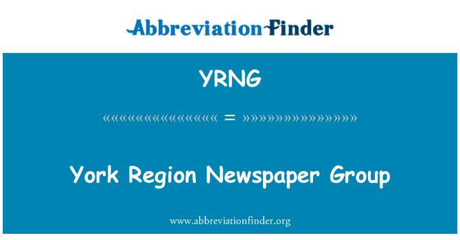 YRNG: York Region Newspaper Group