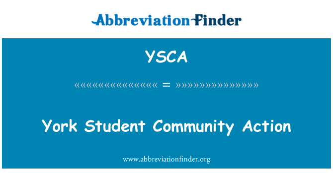 YSCA: York Student Community Action