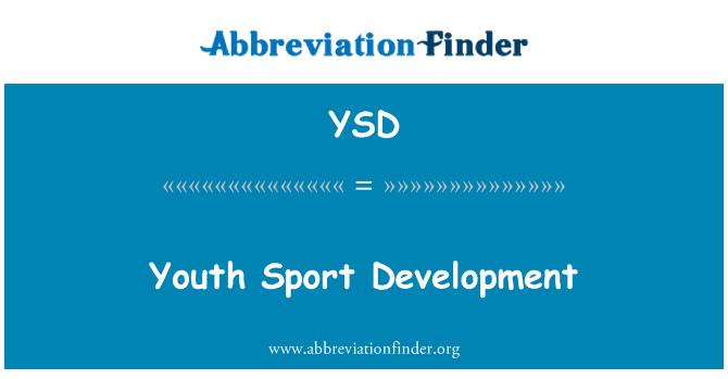 YSD: Youth Sport Development