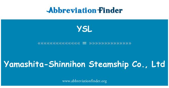 YSL: Yamashita-Shinnihon Steamship Co., Ltd