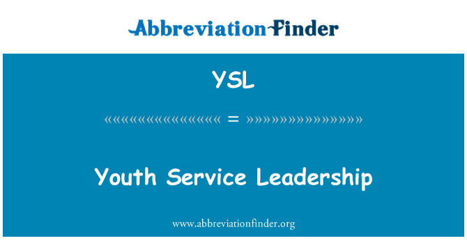 YSL: Youth Service Leadership
