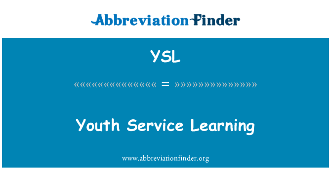 YSL: Youth Service Learning