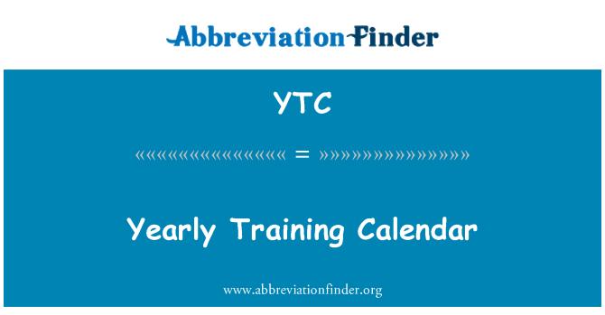 YTC: Yearly Training Calendar