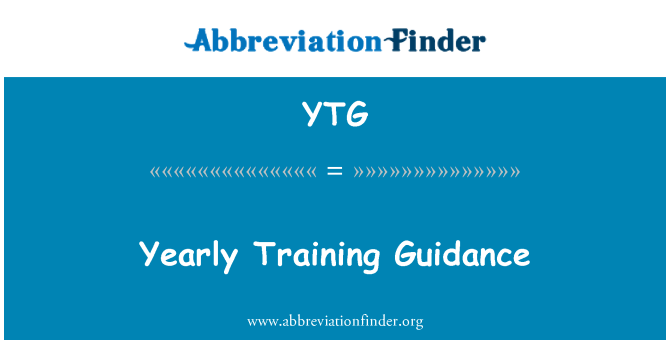 YTG: Yearly Training Guidance