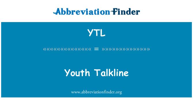 YTL: Youth Talkline