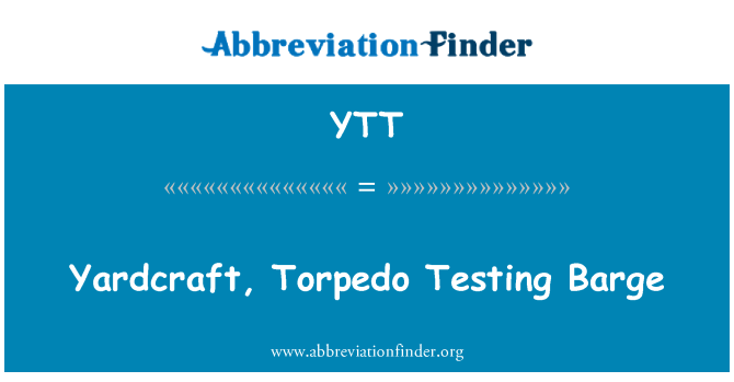 YTT: Yardcraft, Torpedo Testing Barge
