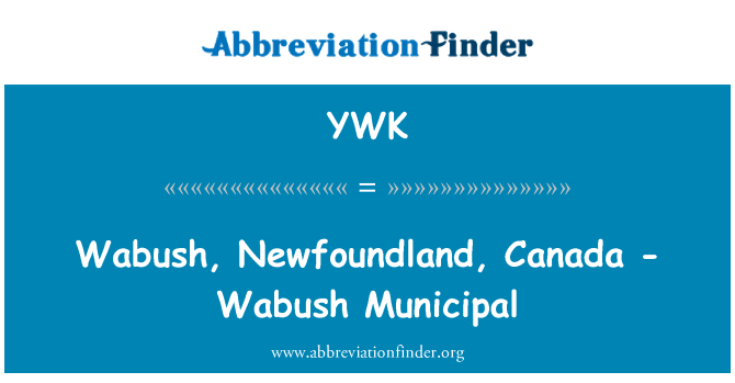 YWK: Wabush, Newfoundland, Canada - Wabush Municipal
