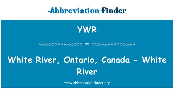 YWR: White River, Ontario, Canada - White River