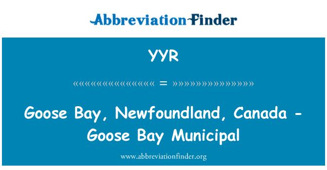 YYR: Goose Bay, Newfoundland, Canada - Goose Bay Municipal