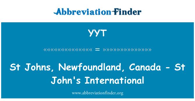 YYT: St Johns, Newfoundland, Canada - St John's International