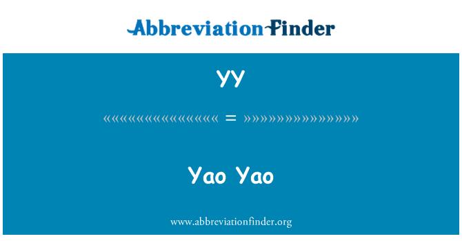YY: Yao Yao