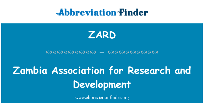 ZARD: Zambia Association for Research and Development
