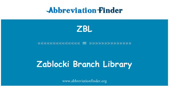 ZBL: Zablocki Branch Library