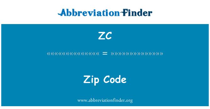 ZC: Zip Code