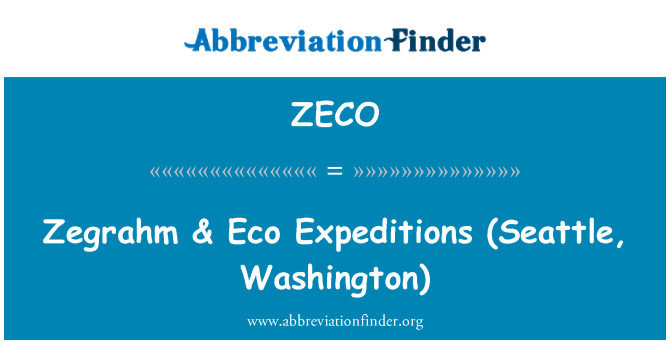 ZECO: Zegrahm   & Eco Expeditions (Seattle, Washington)