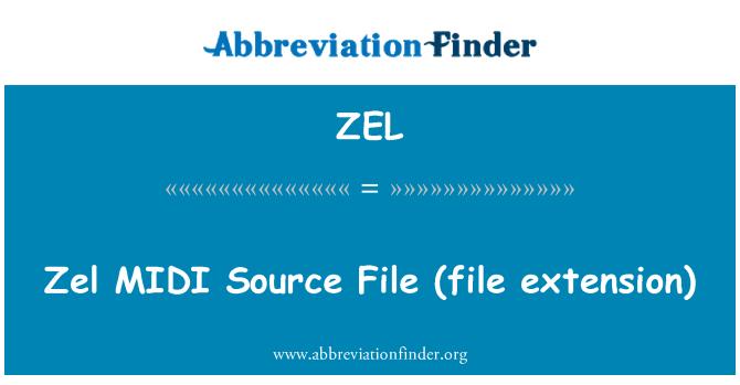 ZEL: Zel MIDI   Source File (file extension)
