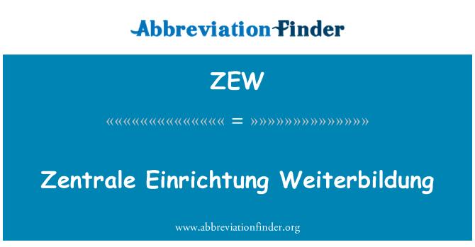 ZEW: Zentrale Einrichtung Weiterbildung