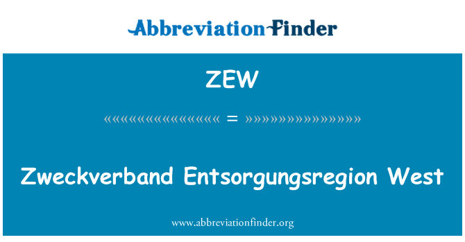 ZEW: Zweckverband Entsorgungsregion Batı